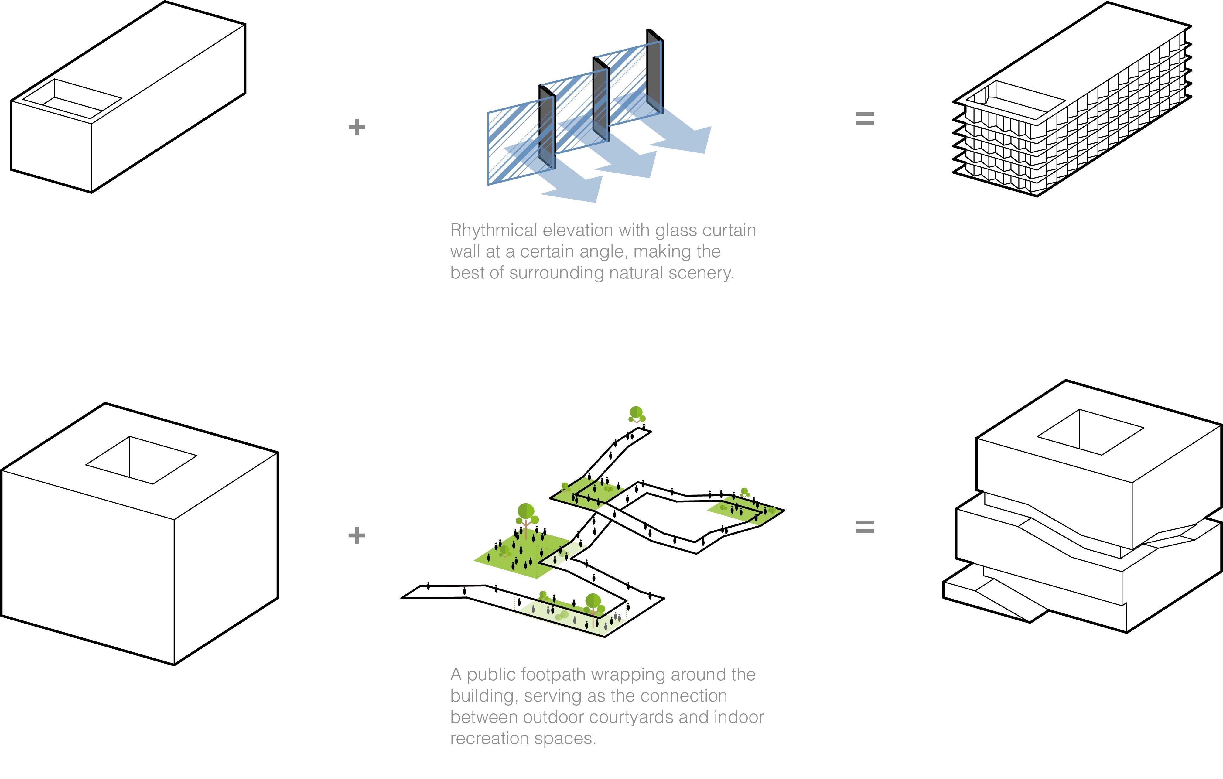 diagram massing EID Architecture}