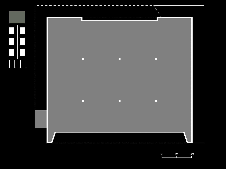 Pianta schematica dello Ziqqurat Mei e Pilia Ingegneri Associati}