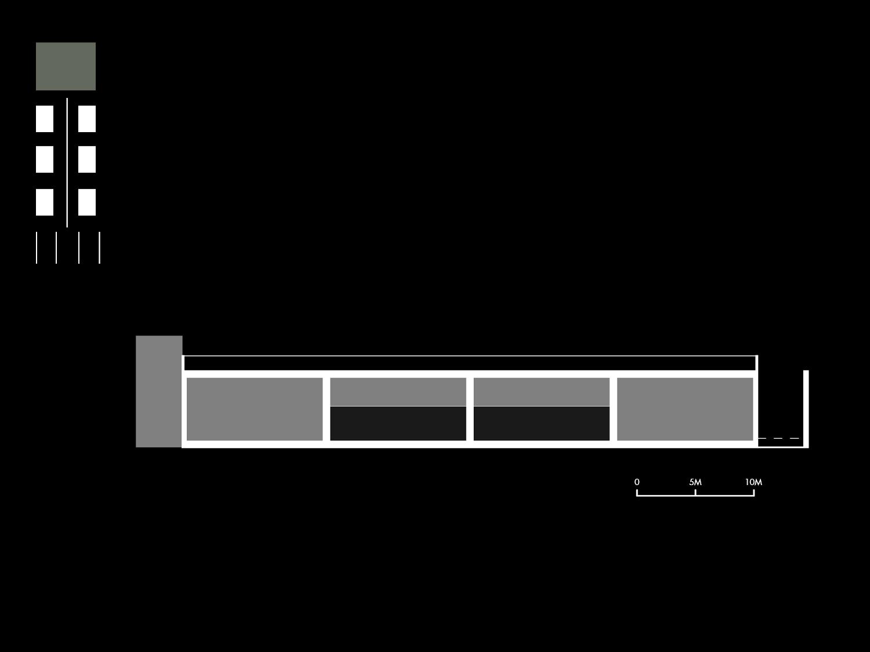 Sezione schematica dello Ziqqurat Mei e Pilia Ingegneri Associati}