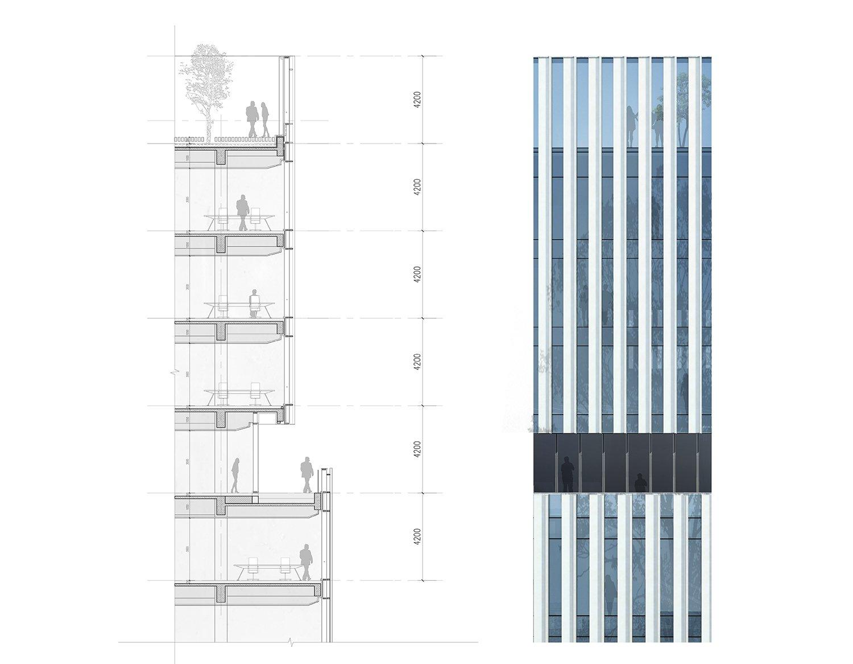 elevation detail EID Architecture}