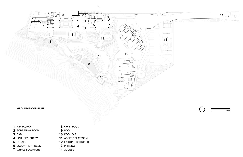 Ground-floor plan }