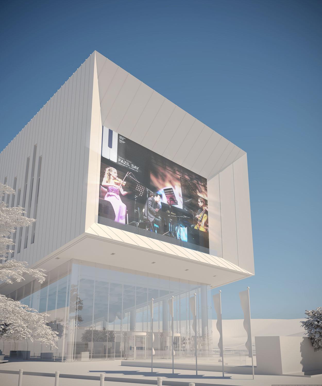 Led Mesh Screen View Adnan Kazmaoğlu Mimarlik Araştırma Merkezi