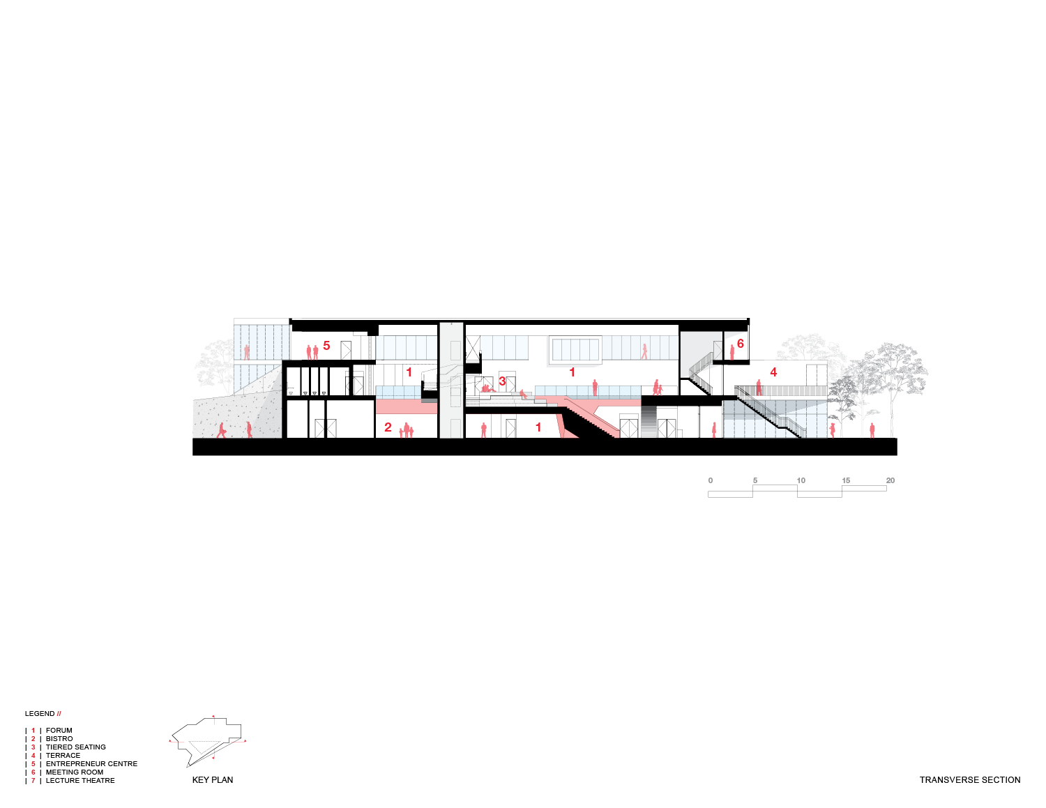 Transverse Section Teeple Architects Inc.}