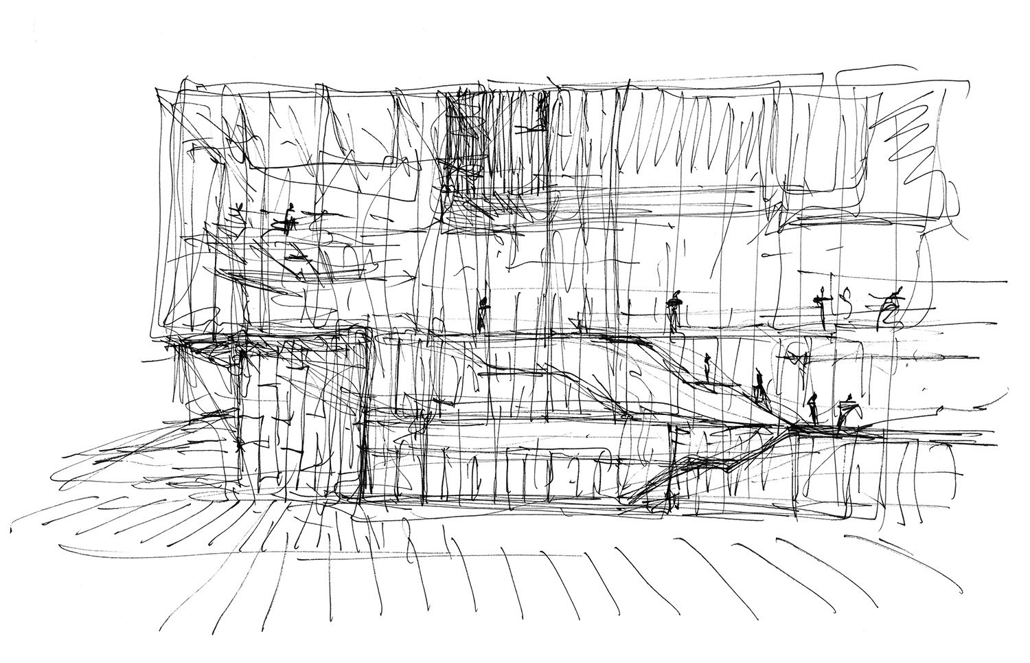 Hand drawing Paredes Pedrosa Arquitectos}