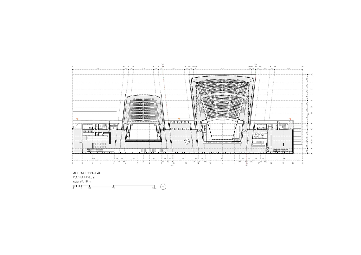 Level 2 plan. Main entrance Paredes Pedrosa Arquitectos}