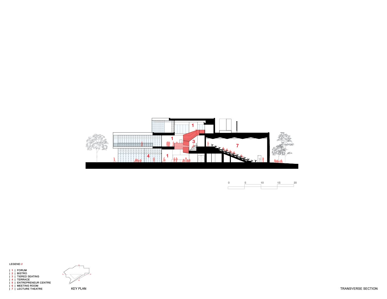 Longitudinal Section Teeple Architects Inc.}