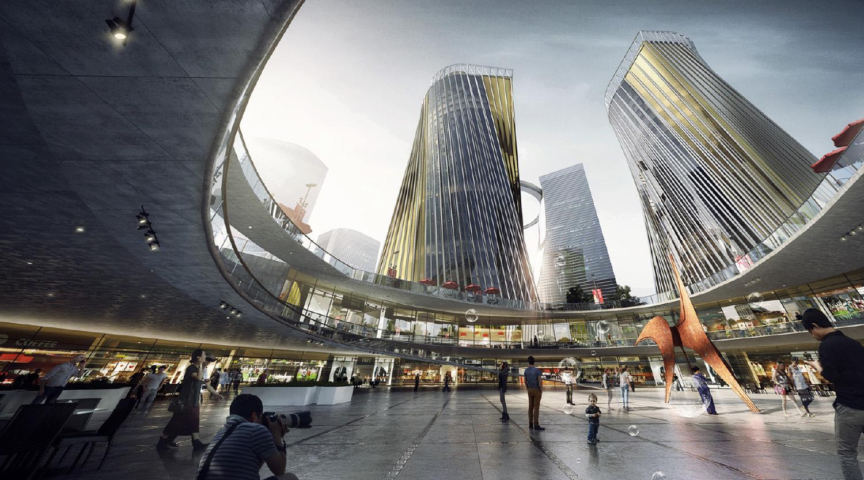 Xiantao Big Data Valley - Sunken Plaza