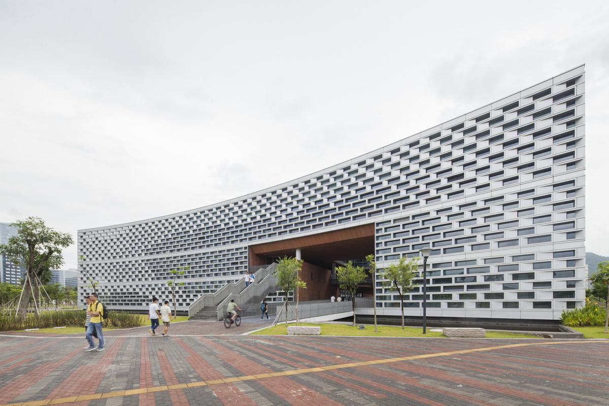 The north facade