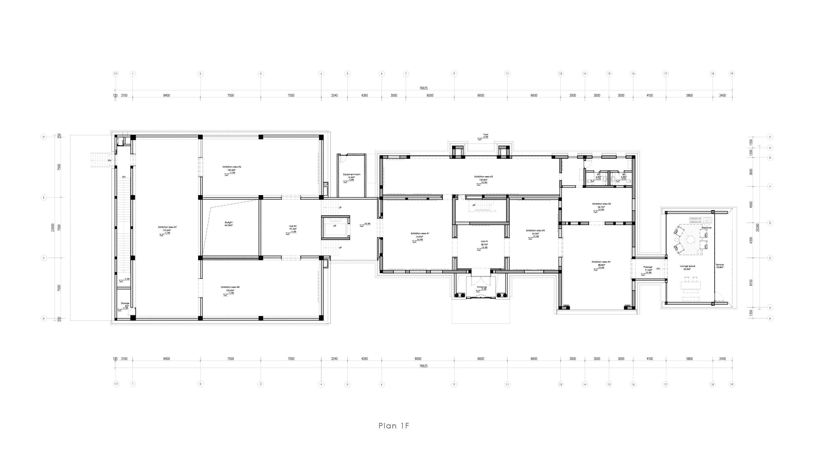 Museum plan - 1F Vermilion Zhou Design Group}
