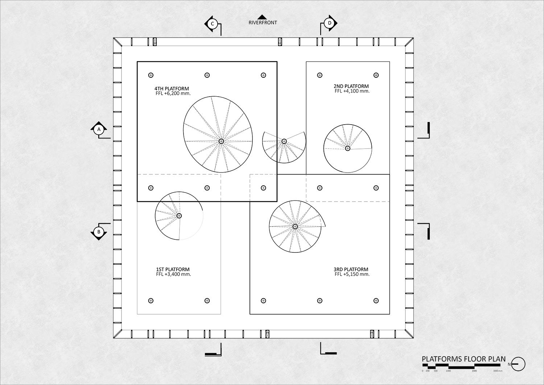 Platforms floor plan }