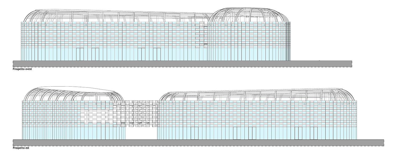 west elevation, east elevation © architetto Michele De Lucchi S.r.l.}