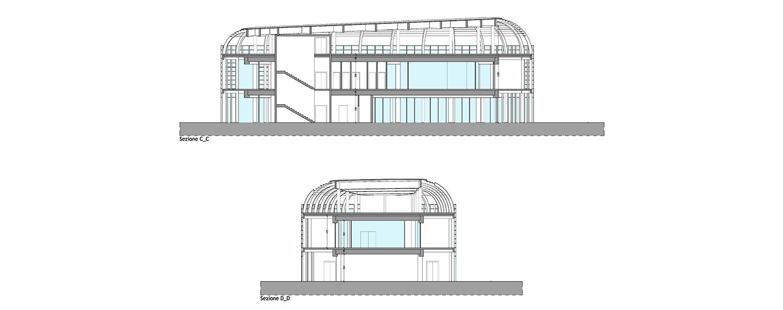 section CC, section DD © architetto Michele De Lucchi S.r.l.}