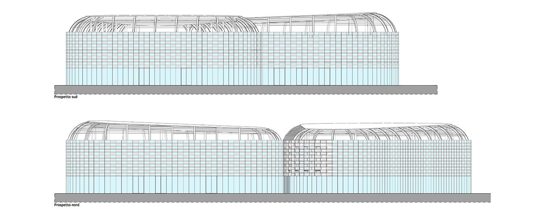 south elevation, north elevation © architetto Michele De Lucchi S.r.l.}