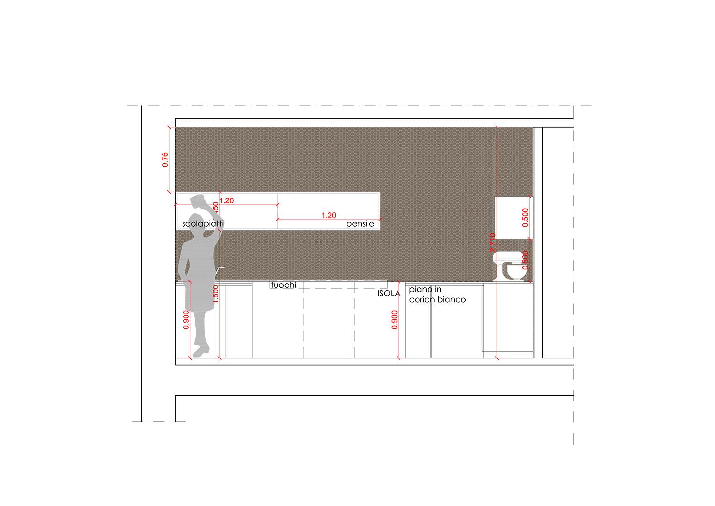 prospetto interno cucina  }
