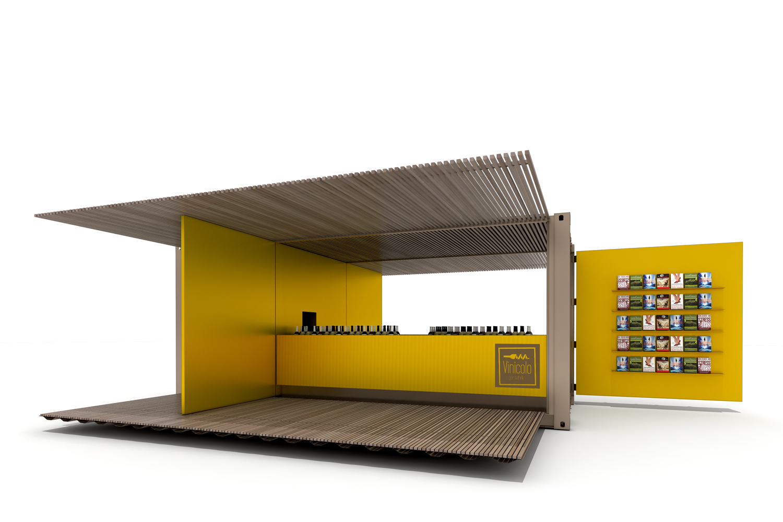 render di progetto - container aperto Arch. Salvatore Terranova - Ing. Arch. Giorgia Testa}