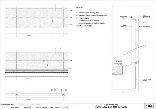 technical details PietriArchitectes}
