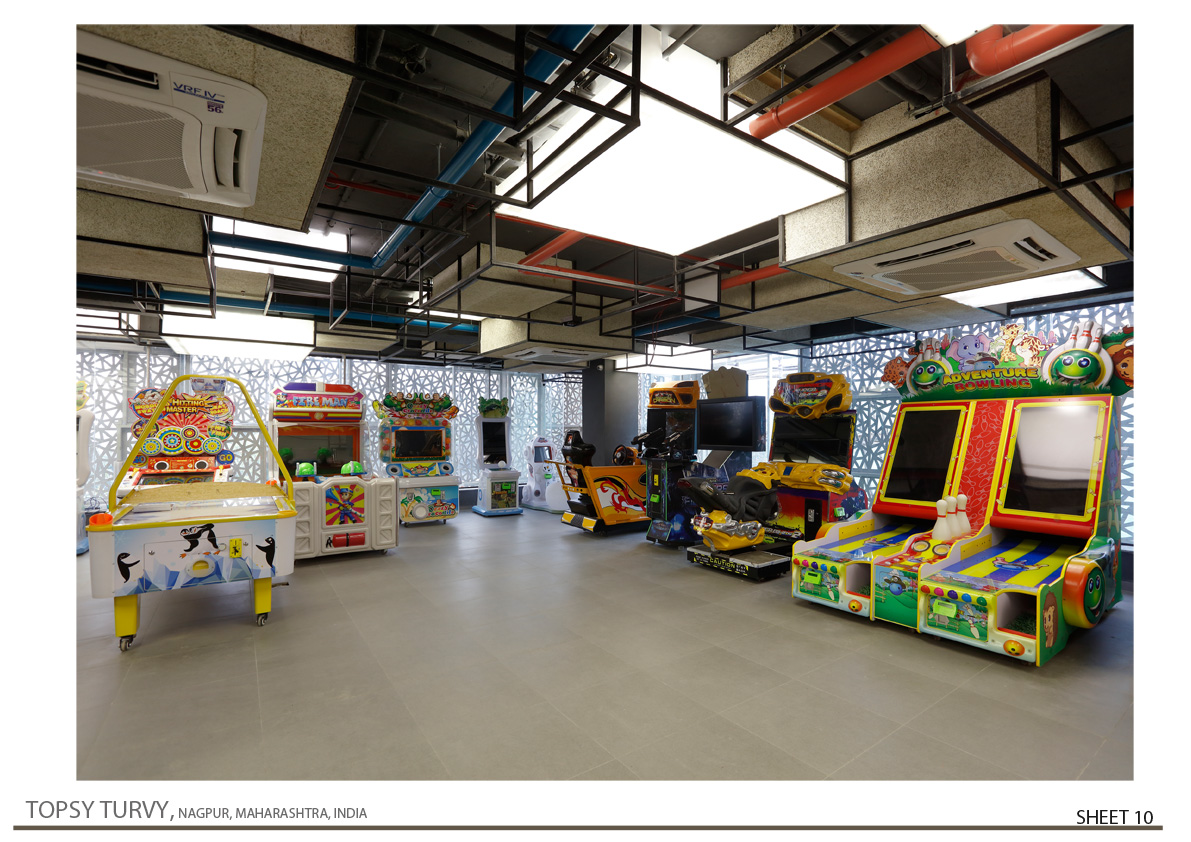 Interior View Of Gaming Zone 02 Zeel Architects/ Ashish Bhonde