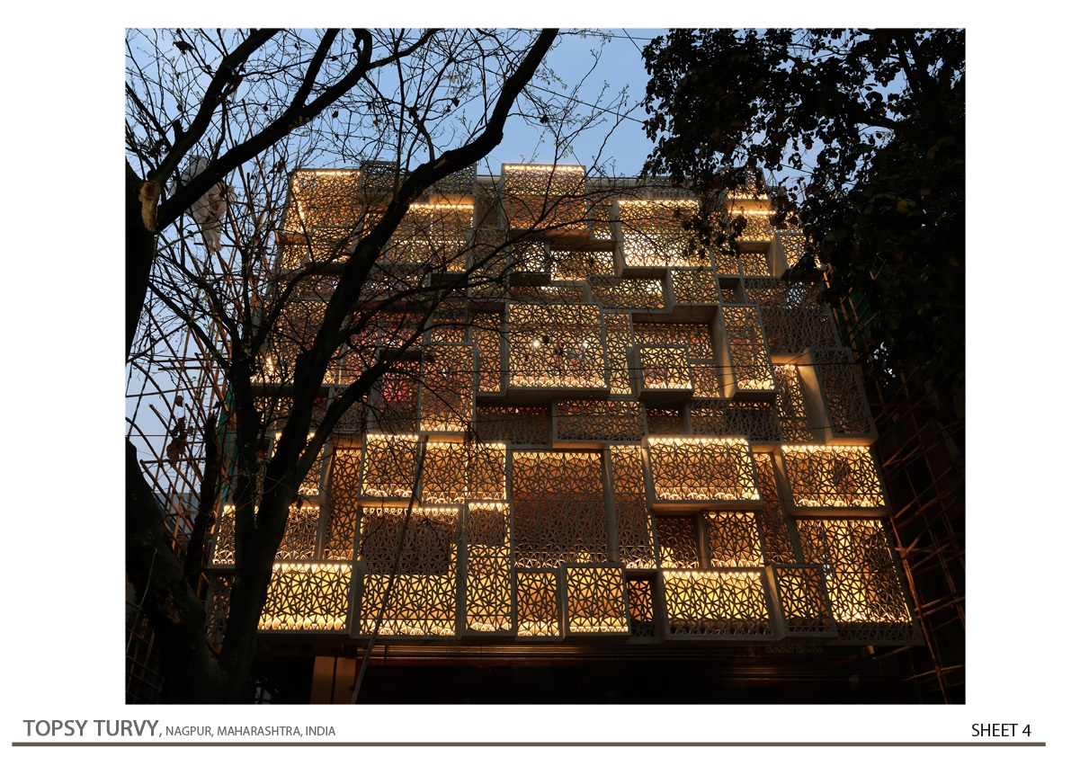 West Side Night View Zeel Architects/ Ashish Bhonde