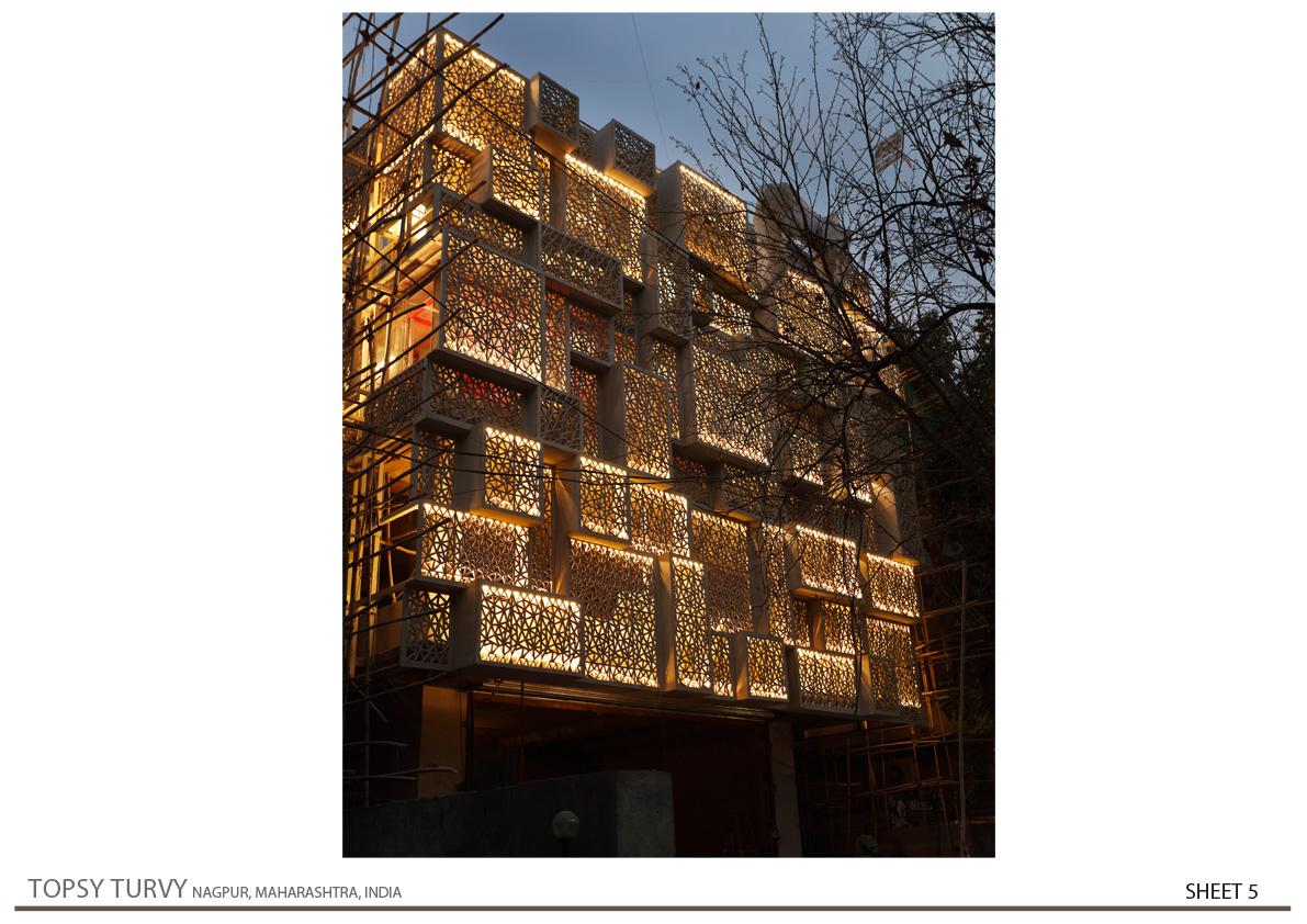 North-West Night View Zeel Architects/ Ashish Bhonde