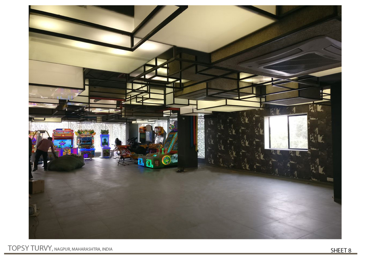 Interior View Of Gaming Zone 01 Zeel Architects/ Ashish Bhonde