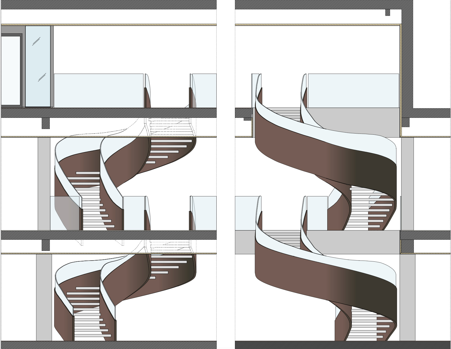 staircase sections }