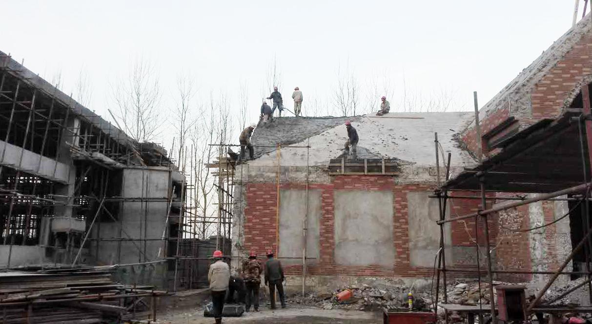 Under construction - main building Vermilion Zhou Design Group}
