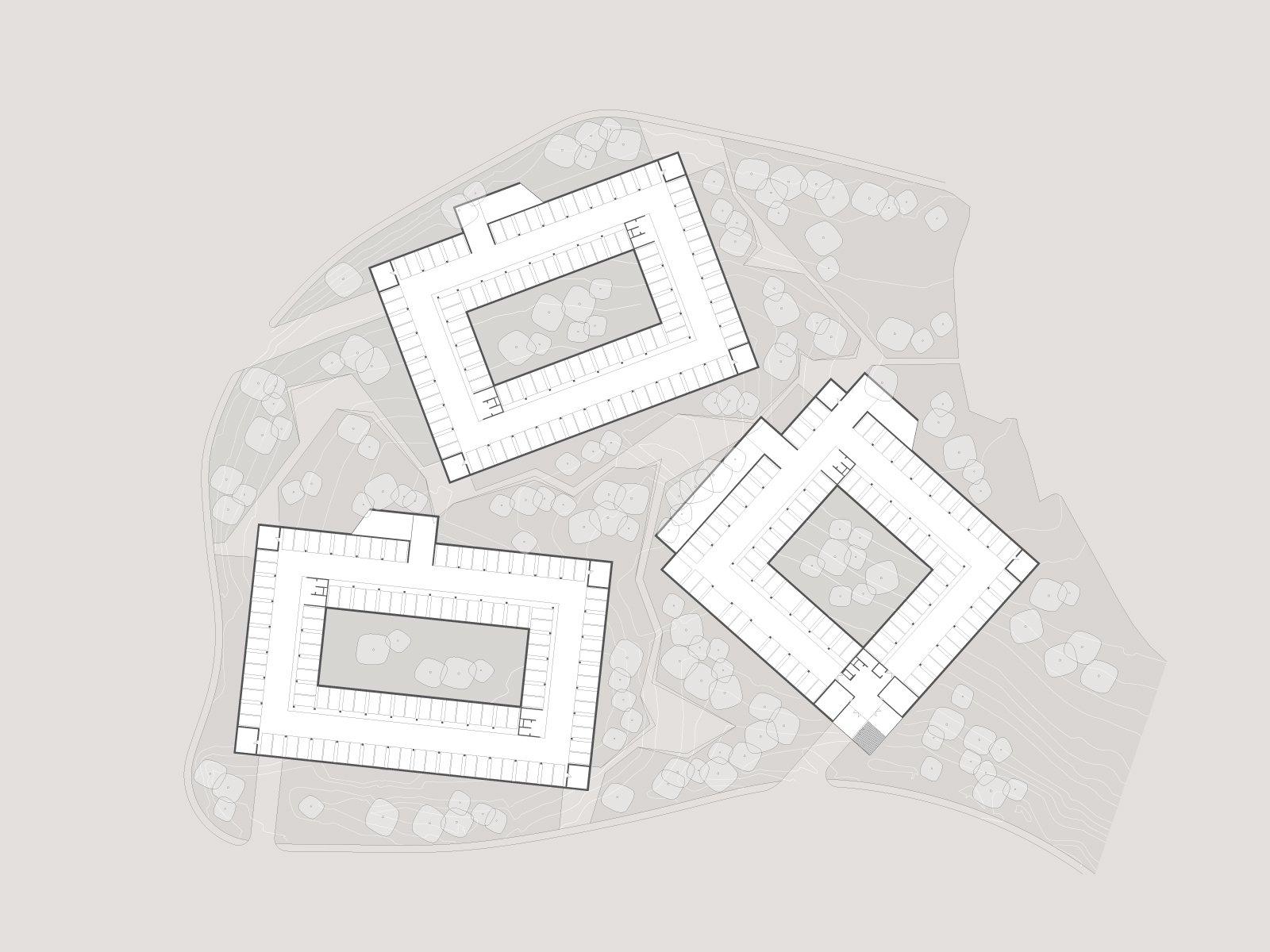zlatibor residencies 03 second floor layout ENOTA}
