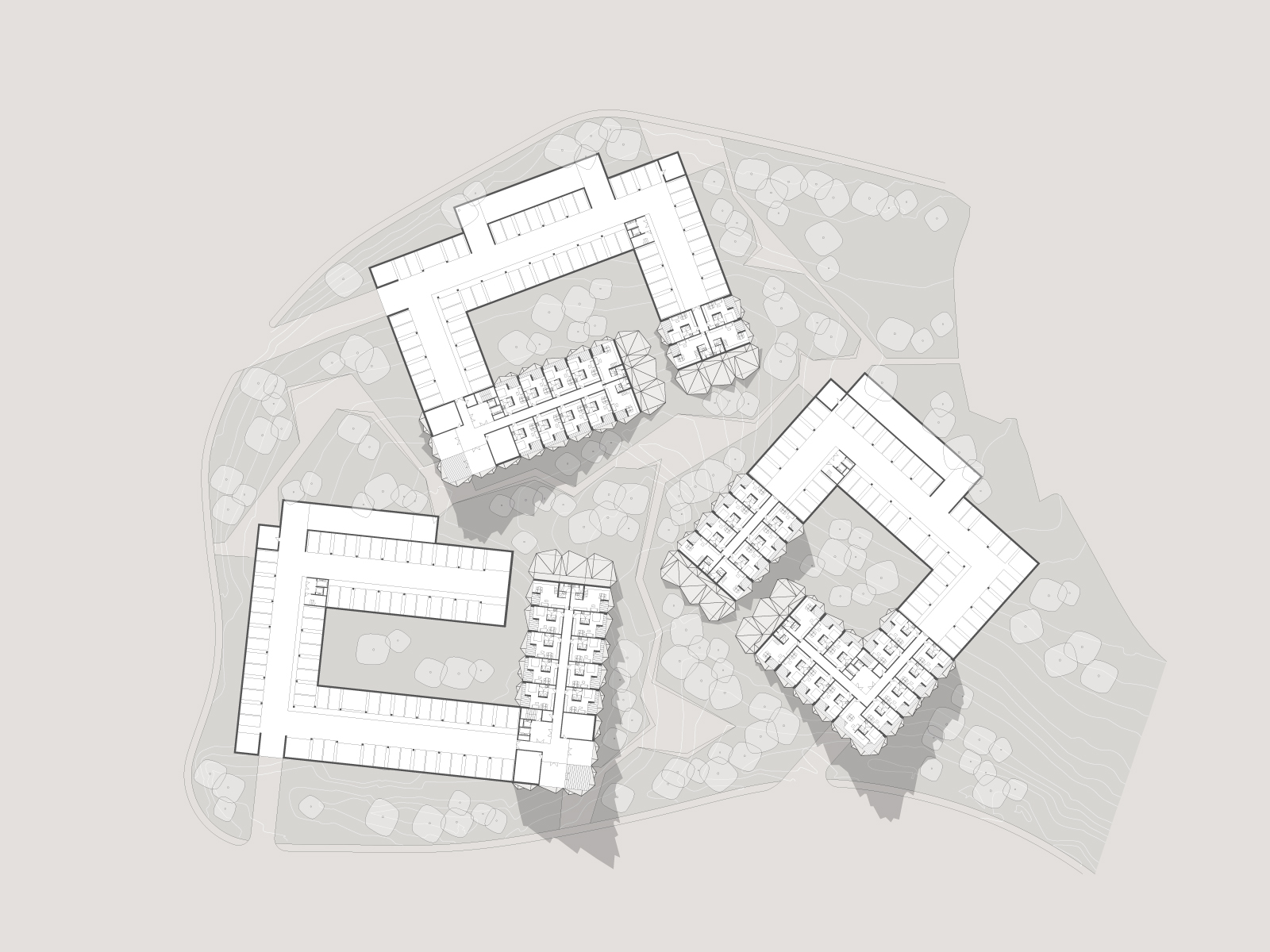 zlatibor residencies 04 third floor layout ENOTA}