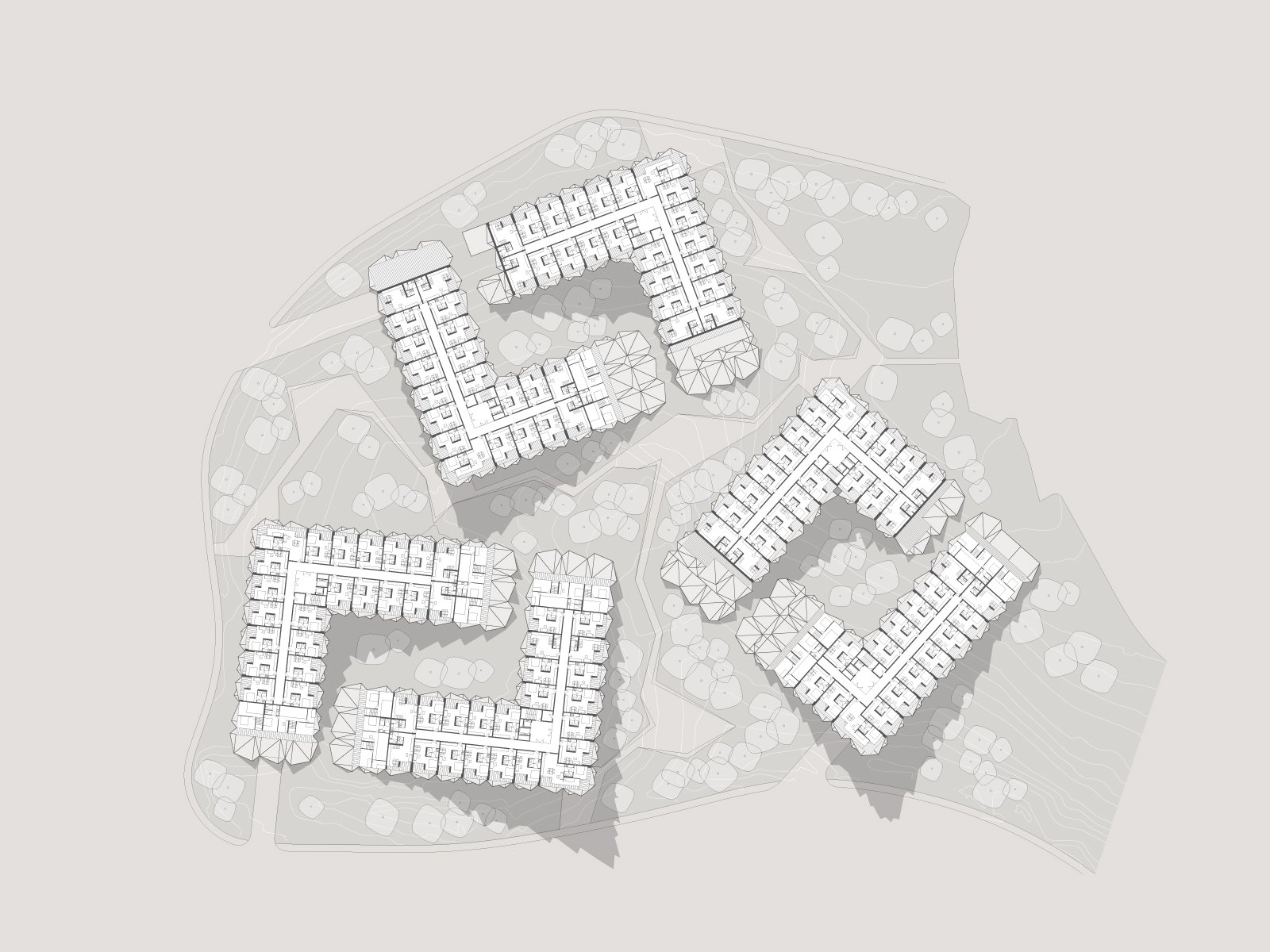 zlatibor residencies 05 fifth floor layout ENOTA}