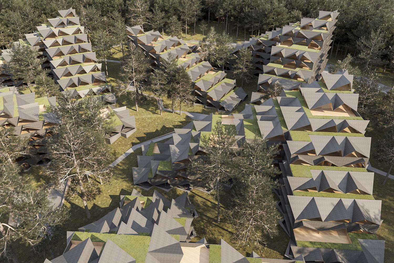 zlatibor residencies 11 aerial view ENOTA}