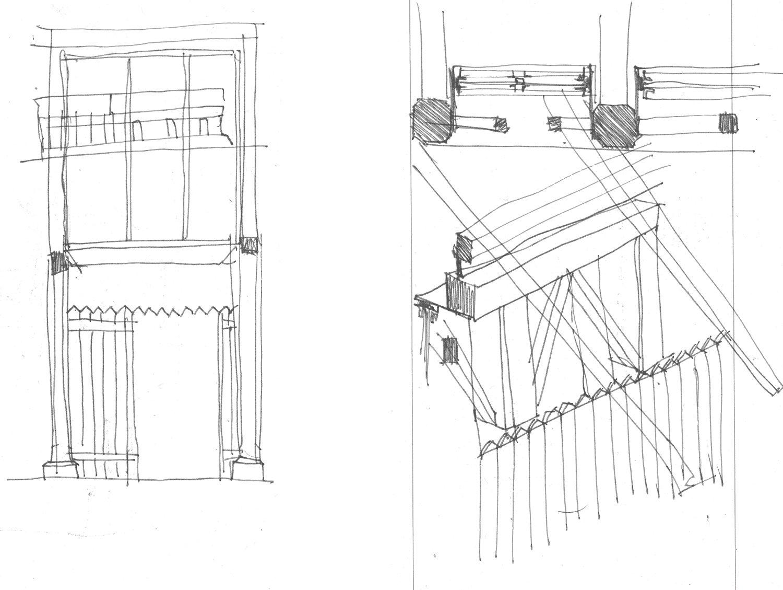 sketchs wooden Rosmaninho+Azevedo - Arquitectos}
