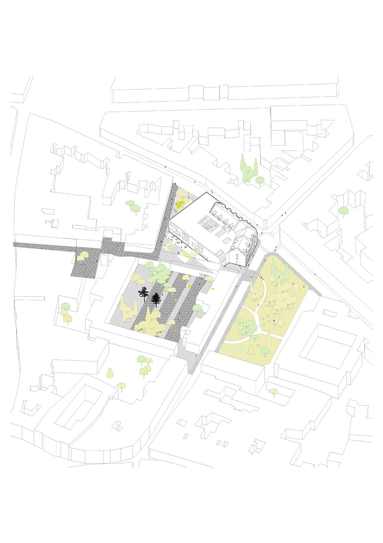 Axonometric site plan KAAN Architecten}
