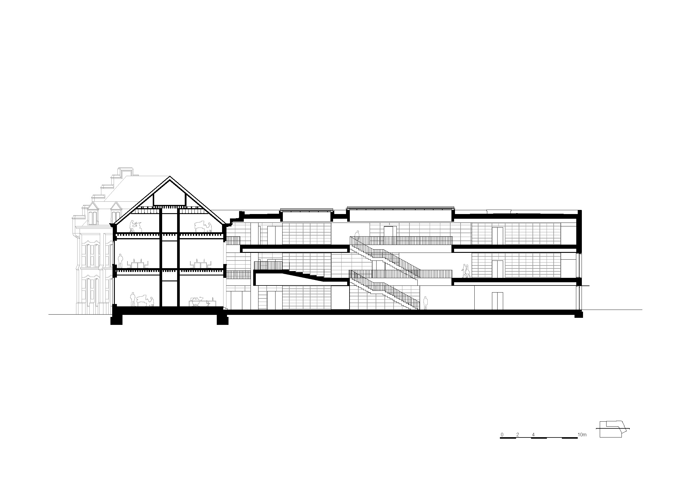 Long section KAAN Architecten}