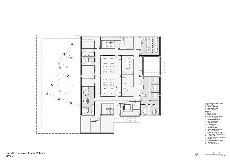 Floorplan Level 0 Behnisch Architekten}