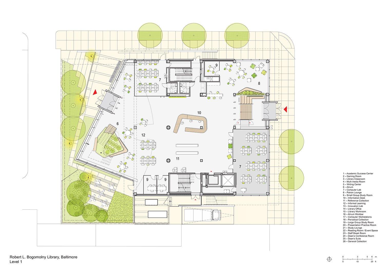 Floorplan Level 1 Behnisch Architekten}