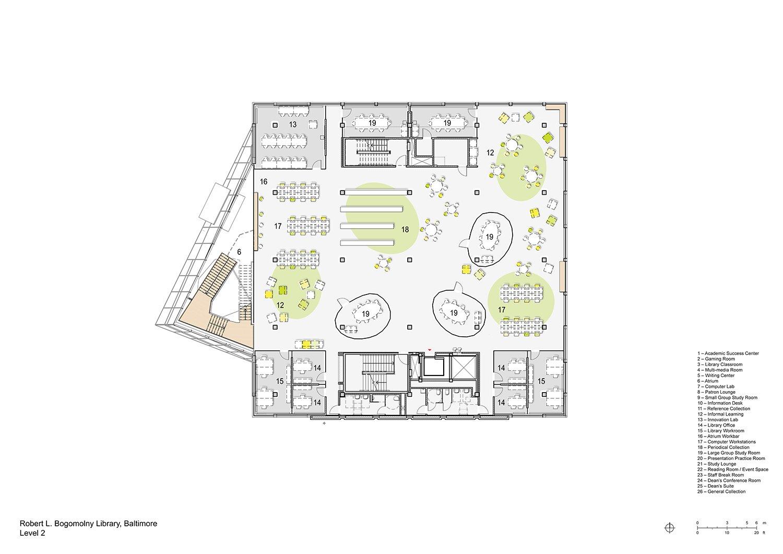 Floorplan Level 2 Behnisch Architekten}