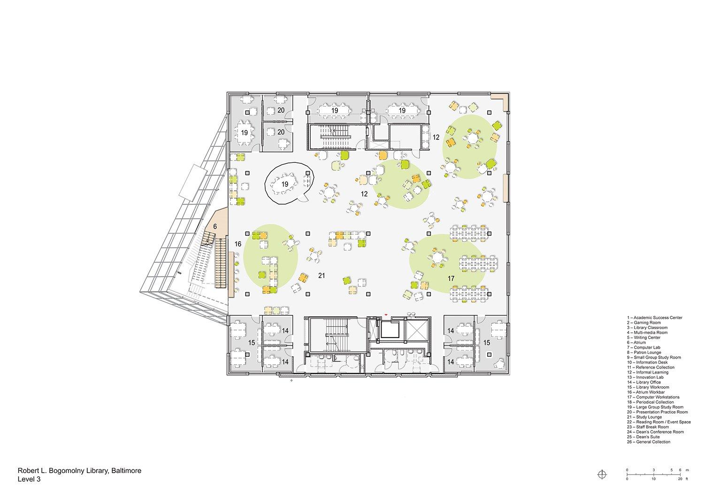 Floorplan Level 3 Behnisch Architekten}