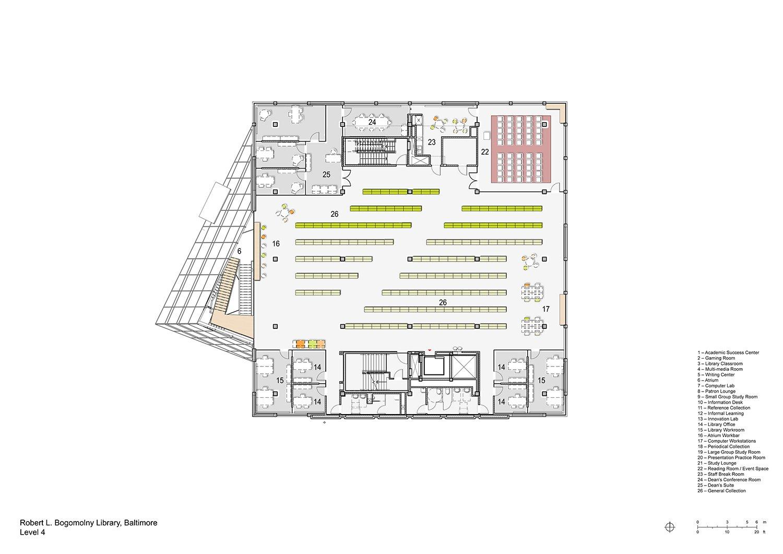 Floorplan Level 4 Behnisch Architekten}