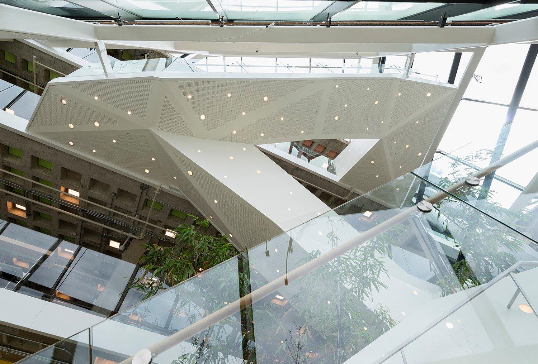 Staircase in the Atrium from beneath David Matthiessen