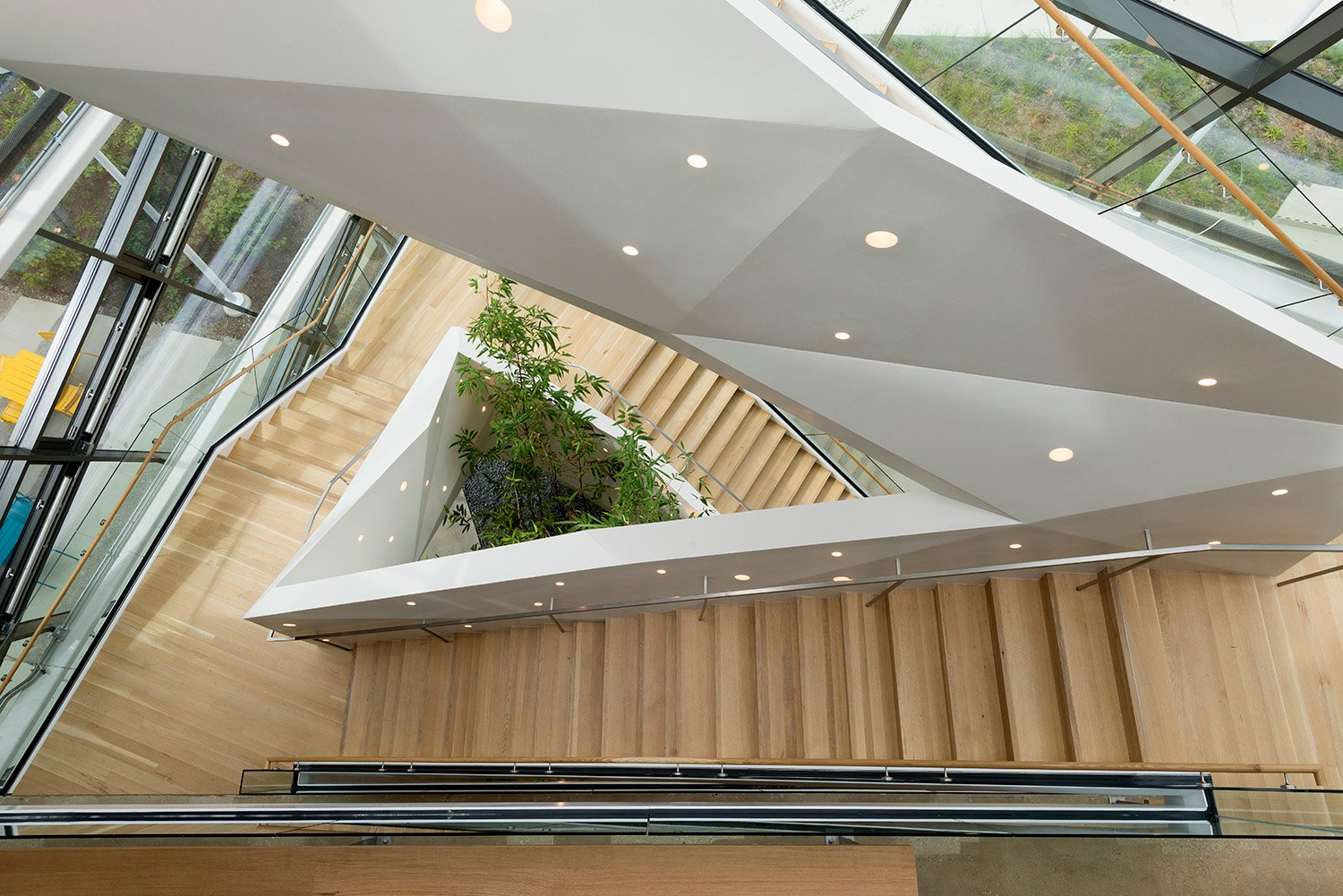 Staircase in the Atrium from above David Matthiessen