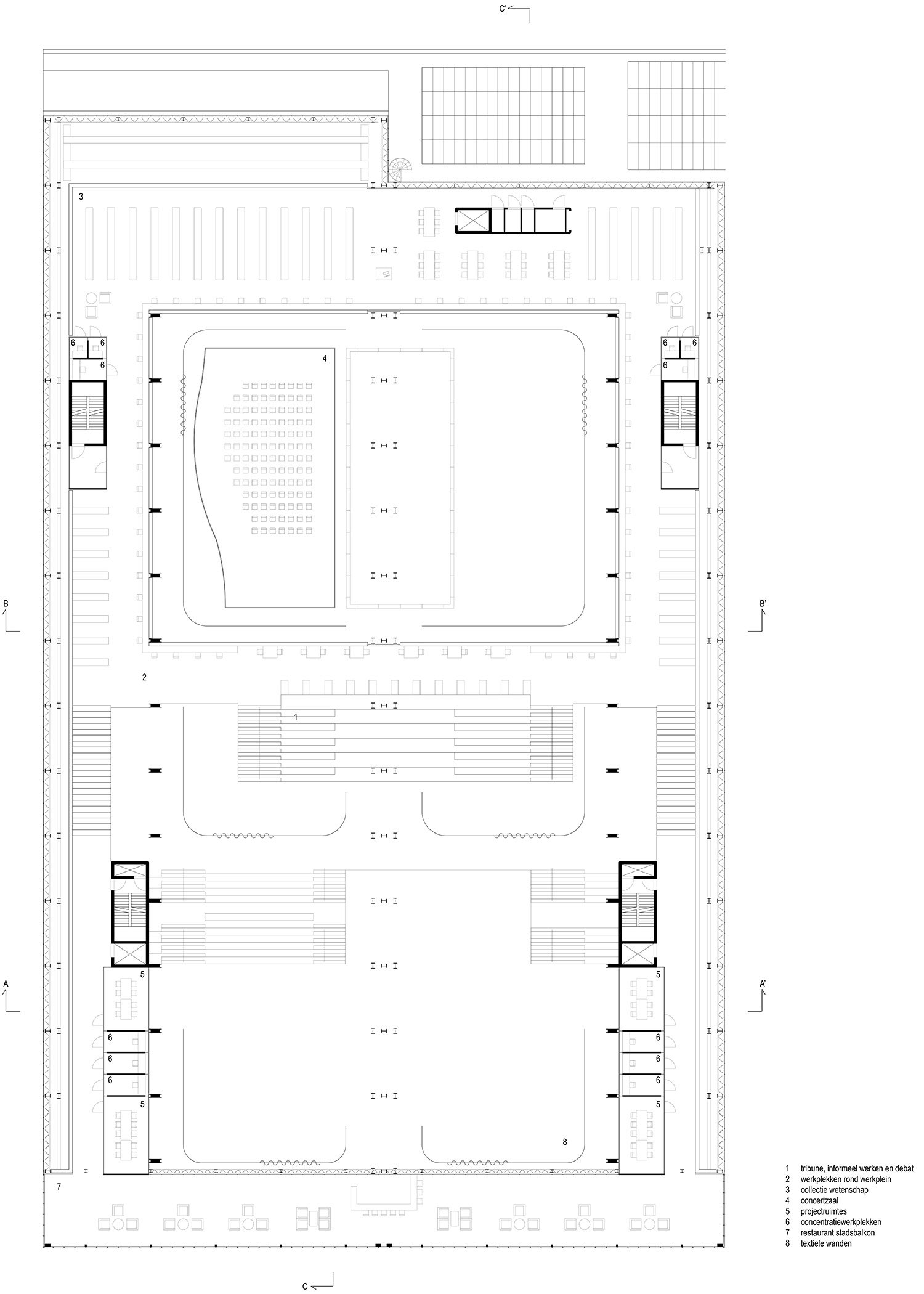 Floor Plan Second and Third floor Civic Architects}
