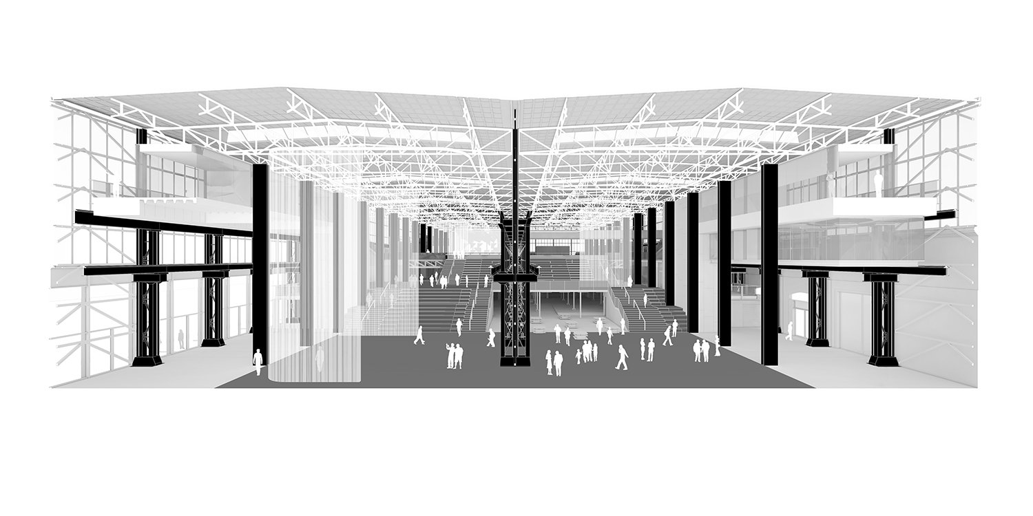 Cross Section Perspective Civic Architects}