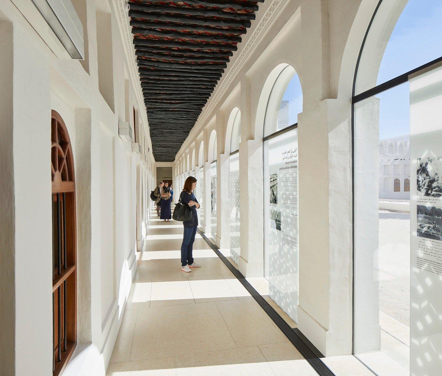 Colonnade exhibition area, Bin Jelmood House Edmund Sumner