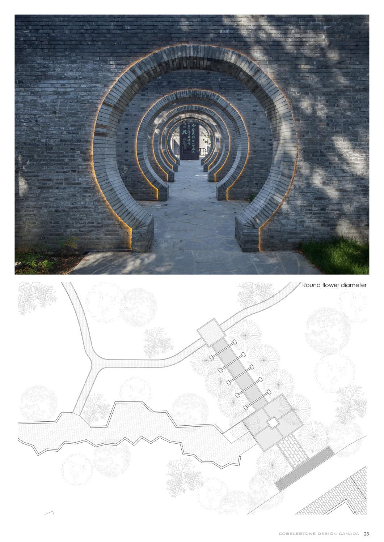 Plan of Round flower diameter COBBLESTONE}