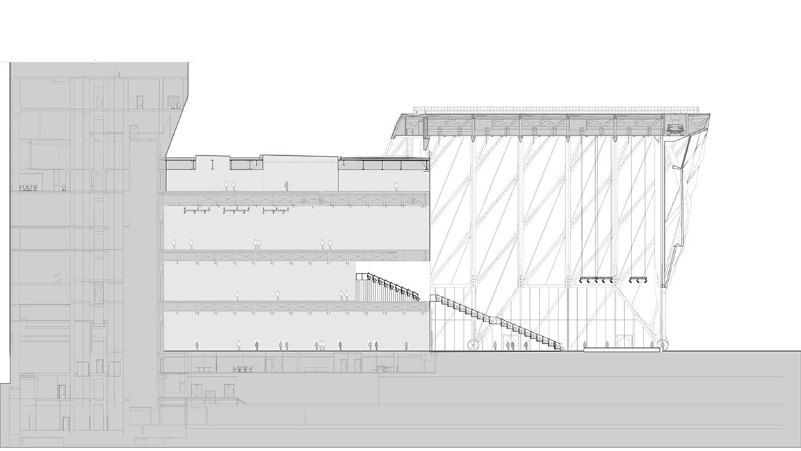 Section - Deployed with Seating Diller Scofidio + Renfro}