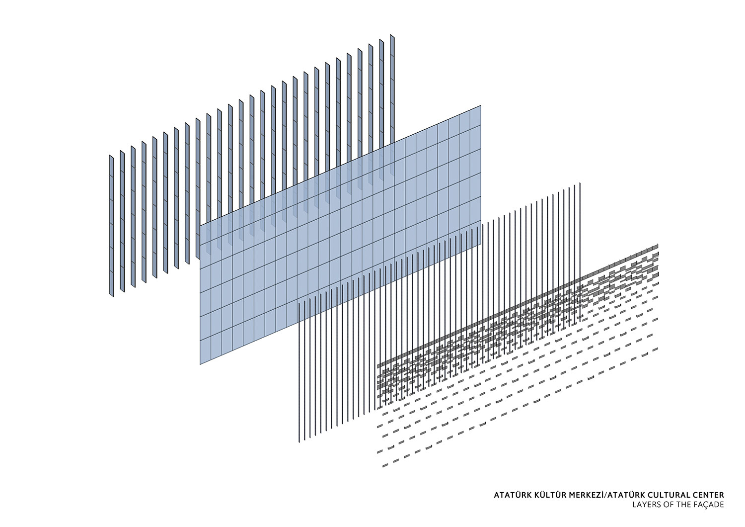 ATATURK CULTURAL CENTER - LAYERS OF THE FACADE TABANLIOGLU ARCHITECTS}
