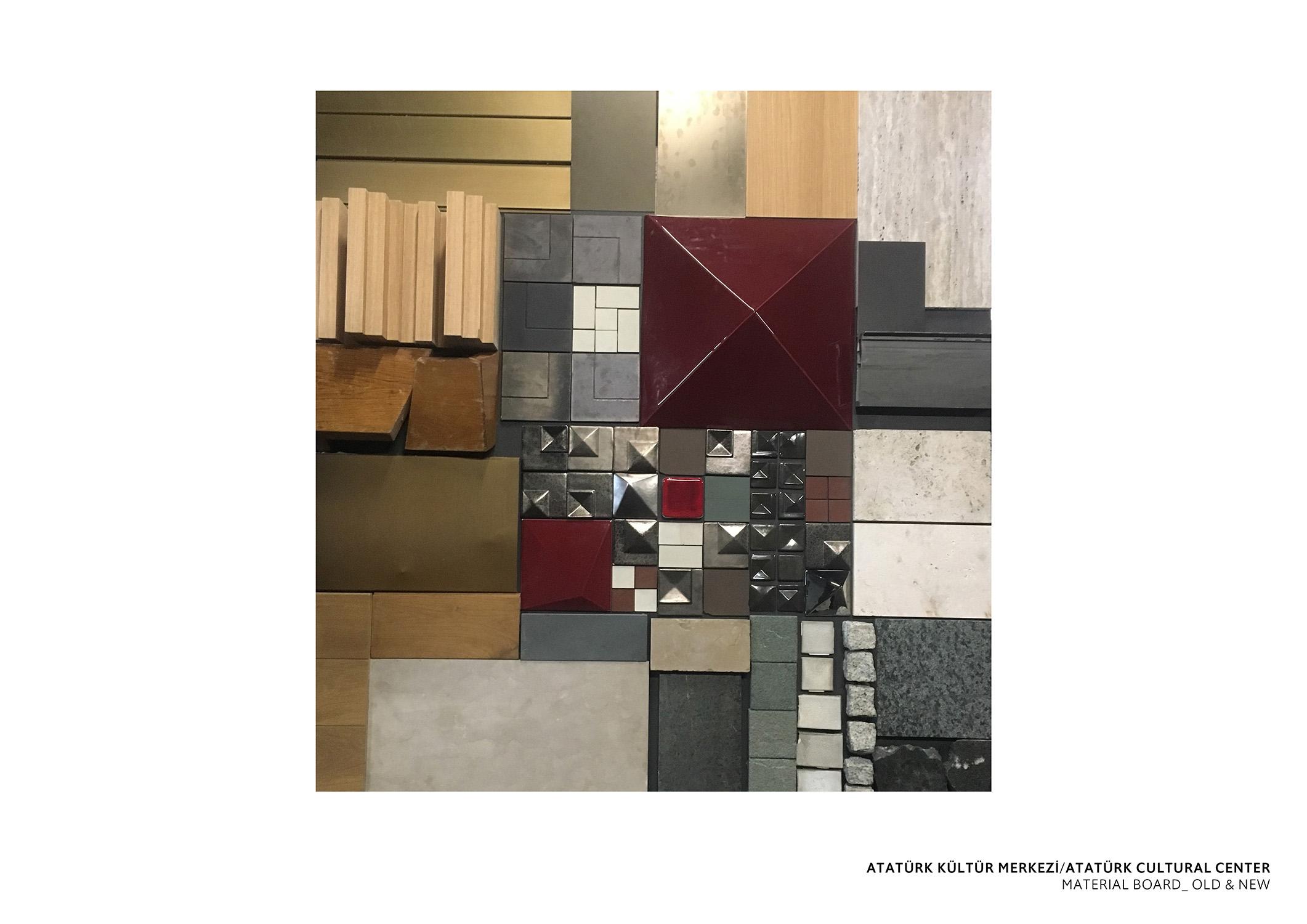 ATATURK CULTURAL CENTER -  MATERIAL BOARD TABANLIOGLU ARCHITECTS}
