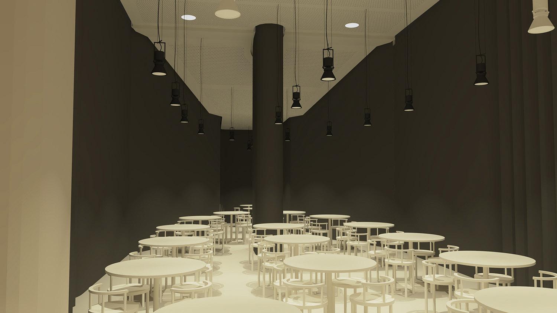 Il Ristorante nello spazio dell'ex fornace ©AtelierTraldi