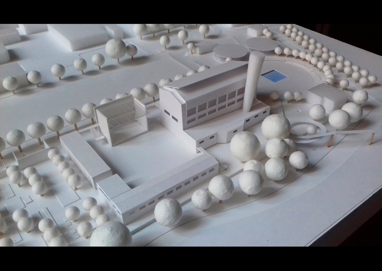 L'Auditorium e la piazza esterna attrezzata per spettacoli all'aperto ©AtelierTraldi}