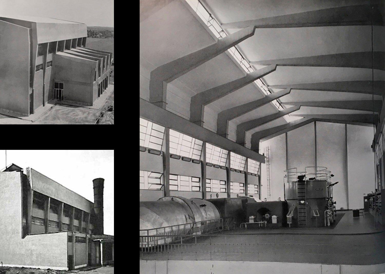 La Centrale ENEL di Fiumicino progettata da Riccardo Morandi (1952-57) ©AtelierTraldi}